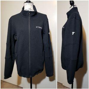 Columbia Titanium Black Zipper Up Jacket size M